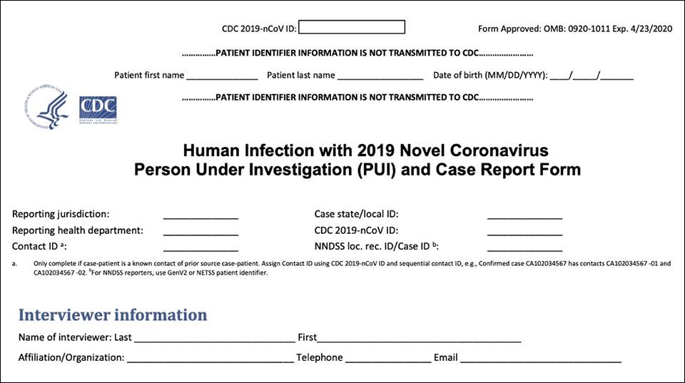 A Covid-19 patient questionnaire