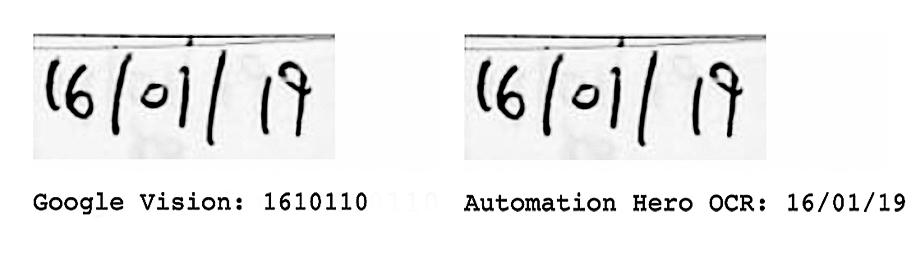 Google Vision vs. Automation Hero Example B