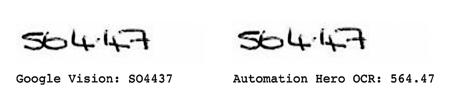 Google Vision vs. Automation Hero Example C