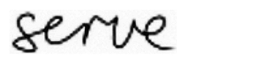 The curves and connected characters in this image make it difficult in handwriting OCR
