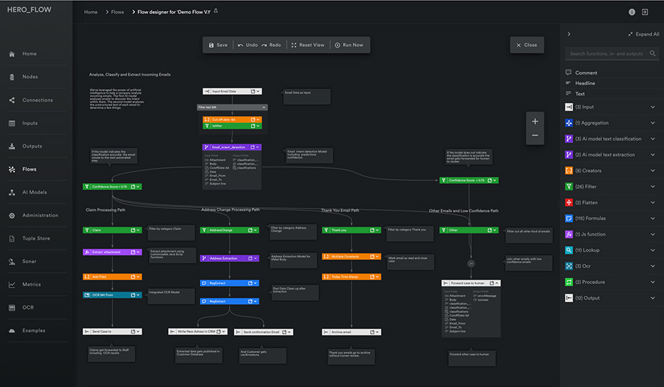 A view of the new Flow Studio in Automation Hero