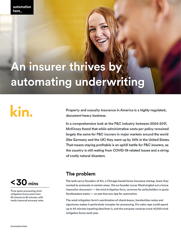 An insurer thrives by automating underwriting